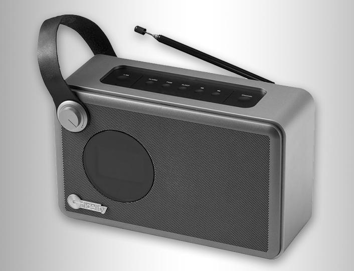 Radio despertador de diseño retro